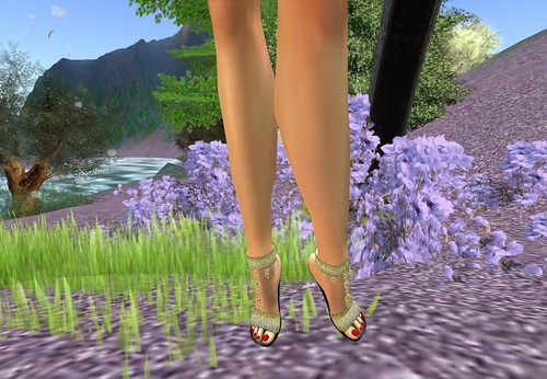 ! Glitterati ! - Temptation Heels - Gold (Discounted item for mebers) by Cherokeeh Asteria