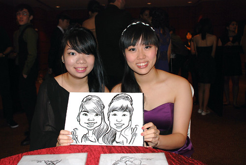Caricature live sketching for Serangoon Junior College Prom Night - 4
