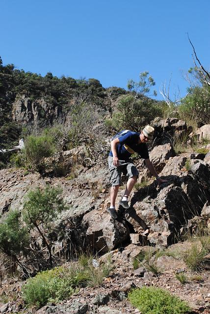 The descent into Werribee Gorge - Werribee Gorge State Park - Victoria