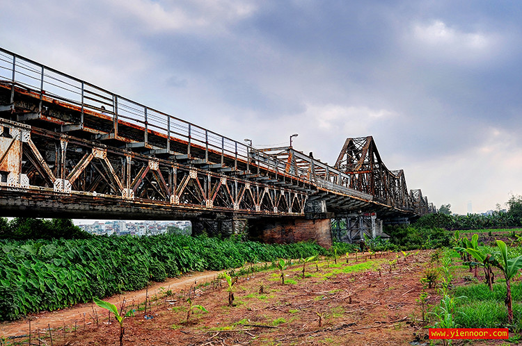The Long Bien Bridge at Hanoi