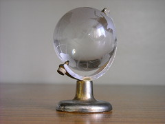 lamp(0.0), incandescent light bulb(0.0), light fixture(0.0), trophy(0.0), ball(0.0), sphere(1.0), light(1.0), glass(1.0), crystal(1.0), globe(1.0), lighting(1.0),