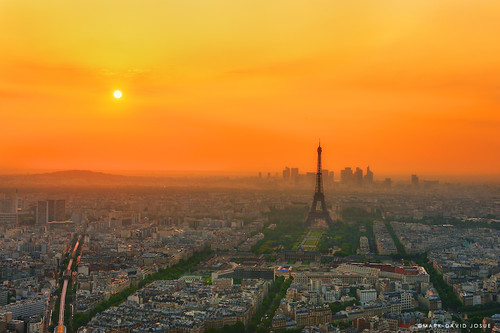 Hazy Parisian Sunset