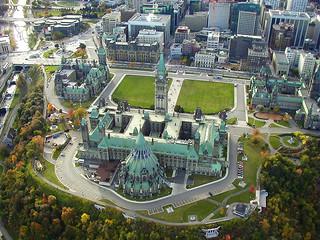 Parliament Hill from a Hot Air Balloon, Ottawa, Ontario, Canada, Y2K