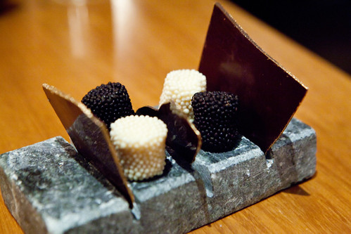Petit fours and chocolates