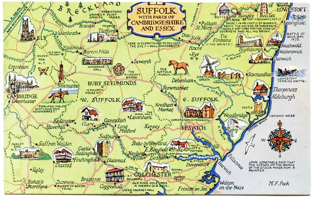 Suffolk County England Map.Suffolk Coast England Map Bellissimonyc Com