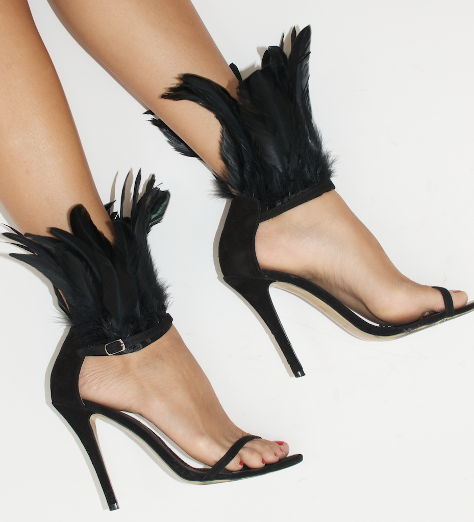 diy feather heels 1