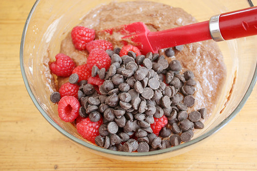 chocolate + raspberries.