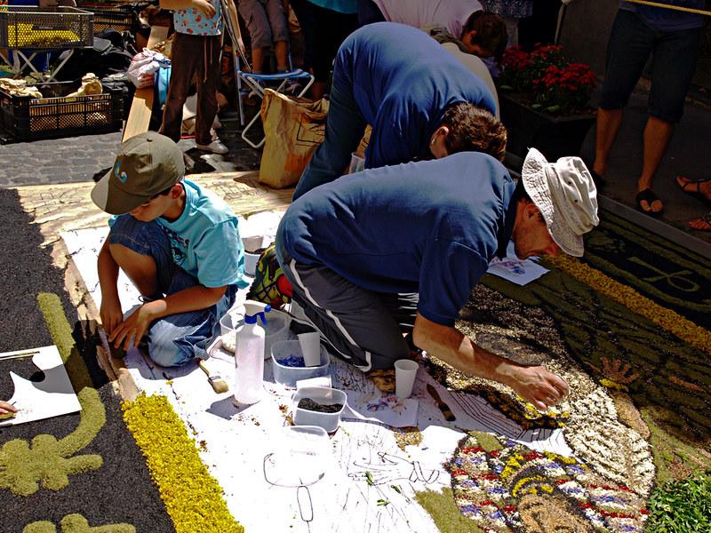 Corpus Christi Flower Carpets La orotava, a Family Affair