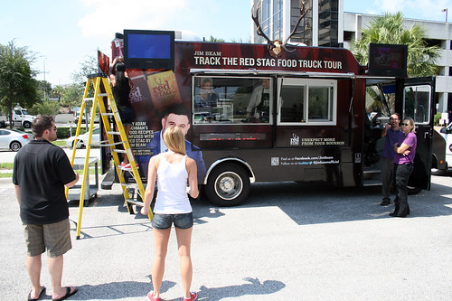 The Jim Beam Red Stag food truck
