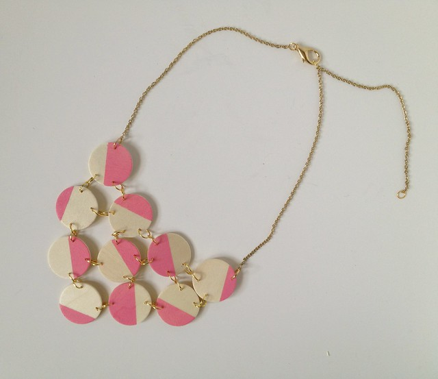 Pink + Wood Bib Necklace 10