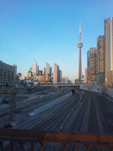 Looking east at downtown Toronto from Bathurst Street (2)
