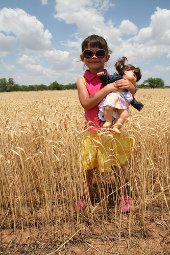 Kaidence and Holly enjoy the wheat