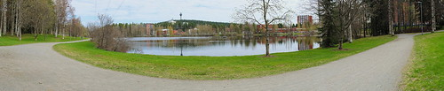 trees panorama finland landscape spring pond fi kuopio