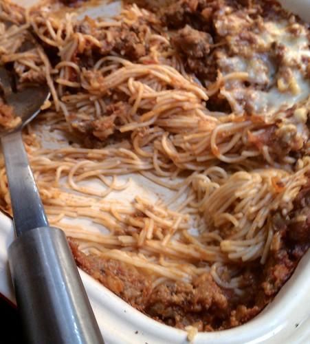 Baked gluten-free spaghetti