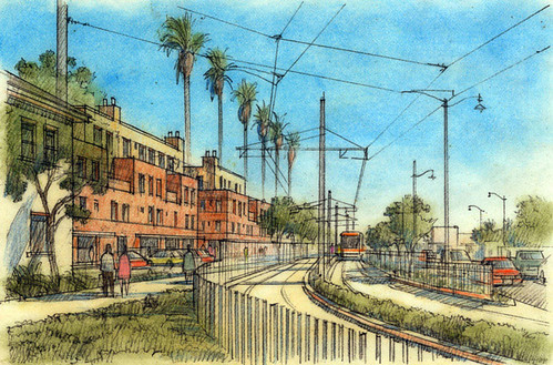 TOD vision for East Los Angeles (courtesy of Moule & Polyzoides)