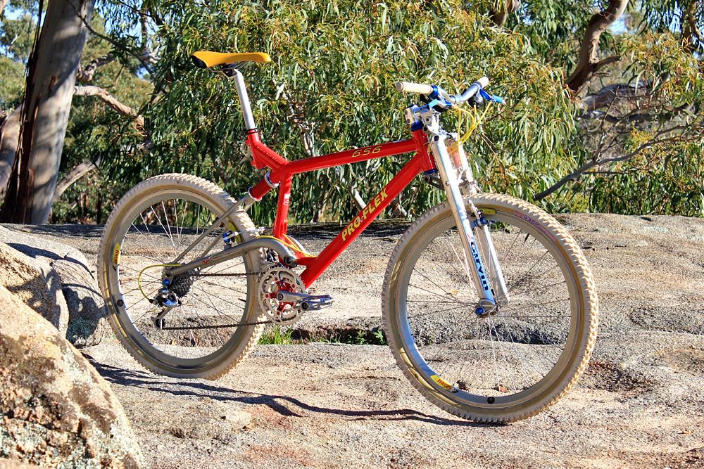 Proflex 656 1996 Full Suspension Retro Mountain Bike Frame