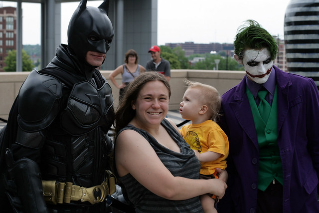 Batman, Megan, Jonas, & the Joker