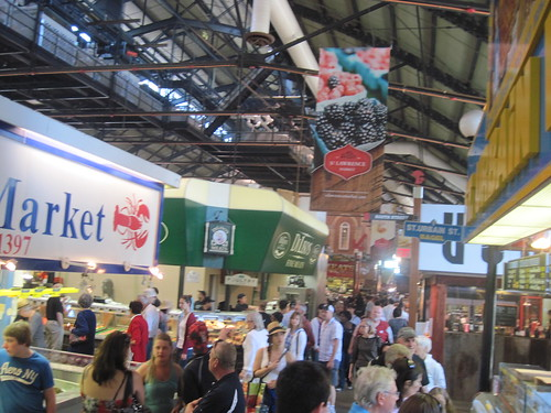 Crowds at St Lawrence Market