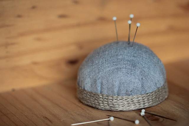 half moon pincushion
