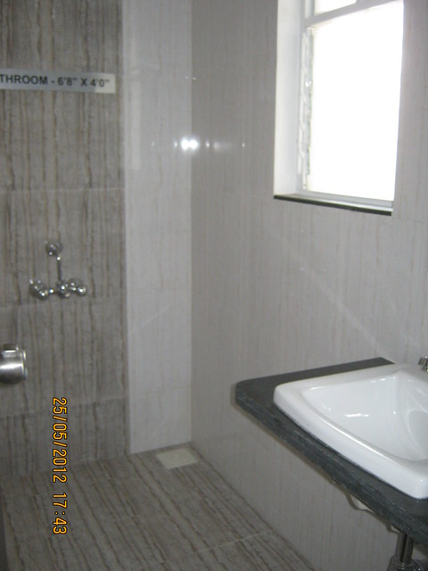 Toilet in the sample flat - Visit Gagan Akanksha, 1 BHK 1.5 BHK & 2 BHK Flats near  Prayagdham, at Koregaon Mul, Uruli Kanchan, off Pune Solapur Highway, Pune 412202