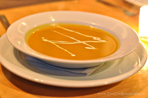 Sweet Potato Soup at Sapor Cafe and Bar ~ Minneapolis, MN