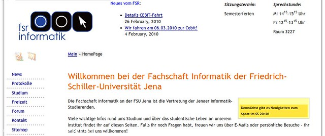 Website of Computer Science Jena