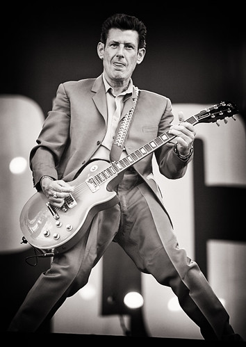 Pinkpop 2012 mashup foto - Dat Lyle Lovett in The Specials zit, wisten wij ook niet