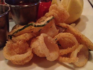 Fried Calamari and Zucchini