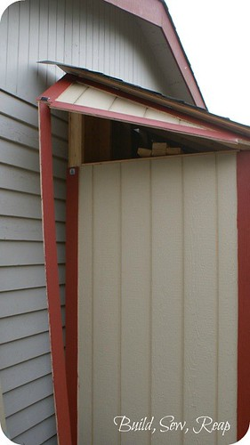 Shed lumber access door 0528