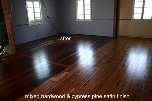 Mixed Hardwood Amp Cypress Pine Floor With Satin Finish