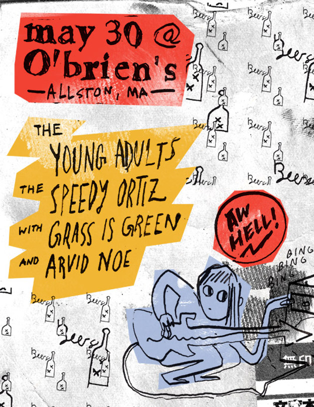 Insanely Excellent Rock Bill Is Insanely Excellent: Young Adults, Speedy Ortiz, Grass Is Green, Arvid Noe