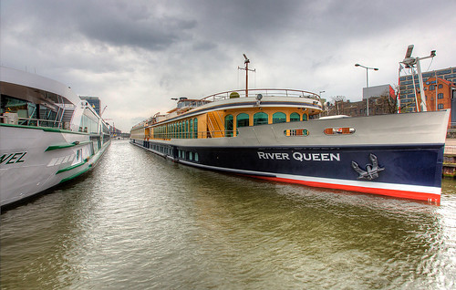 River cruise ships in Amsterdam