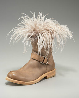 Brunello Cucinelli Feathered Motorcycle Boot NM Retail $1435 on sale for $961