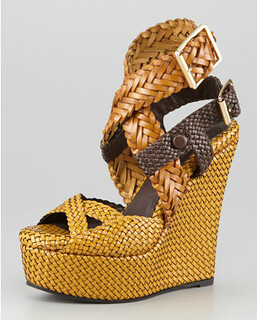 Burberry Woven Sandal NM Retail $1495 on sale for $1001