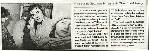 David Byrne at CBGB 2nd Ave Theatre - 1977