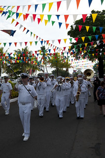 On parade in Apia.