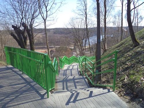 Zielone Schody.Green Stairs by xpisto1