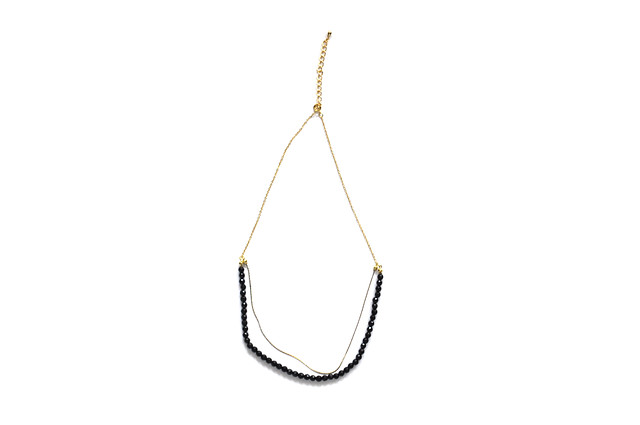onyx & chain necklace