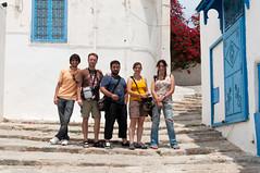 Foto de la familia #estoychachi en Túnez