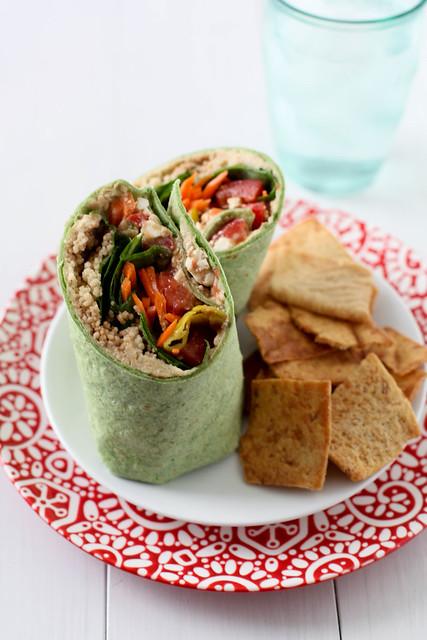Let's Do Lunch: Greek Veggie Wraps