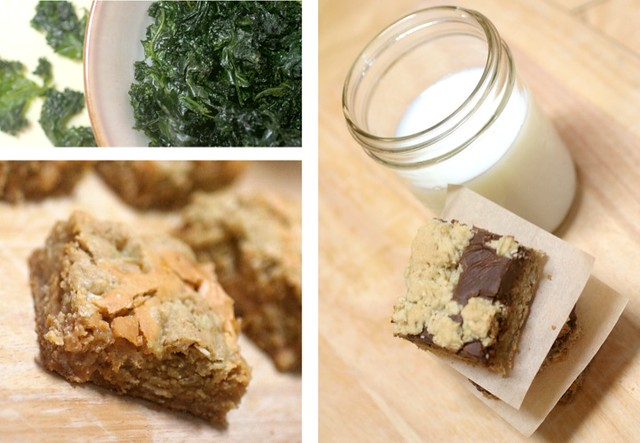 Kale Chocolate Butterscotch Collage