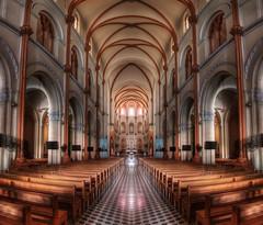 Inside a church in HDR - Saigon Notre-Dame Basilica