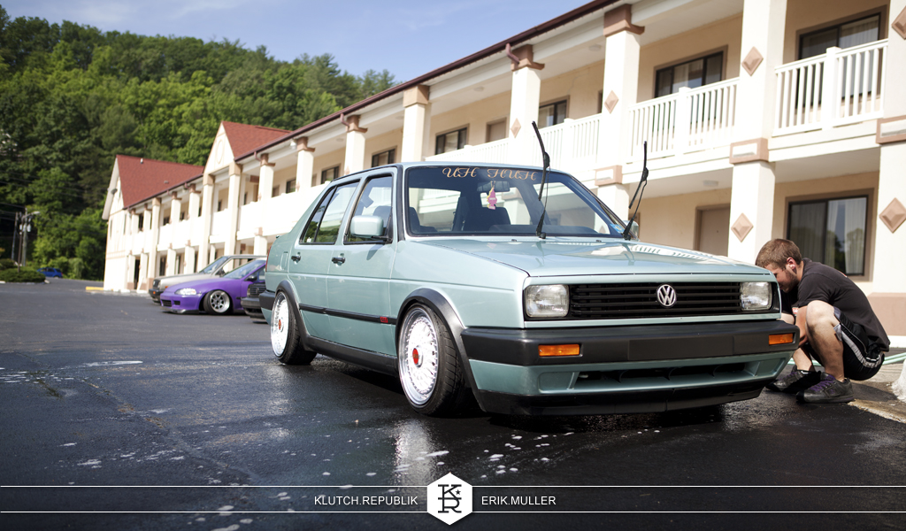 mk2 vw jetta on bbs rs at southern worthersee 2012