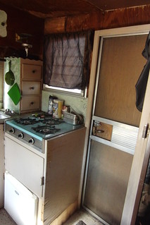 Trailer Door & Kitchen