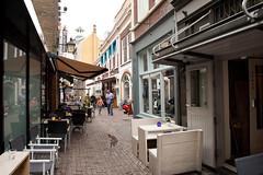 <p>Zicht op de Drieharingstraat of Drieharingsteeg zoals het toen heette. Waar Pieter van der Hagen woonde is niet duidelijk, maar dit is een van de plaatsen in Utrecht waar hij een woning had. Foto: Anna van Kooij.</p>