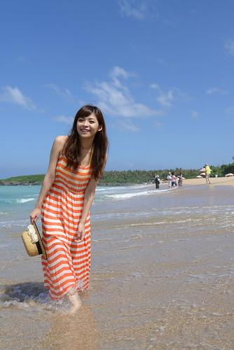 [フリー画像素材] 人物, 女性 - アジア, 台湾人, ワンピース・ドレス, 人物 - 海 ID:201206181400