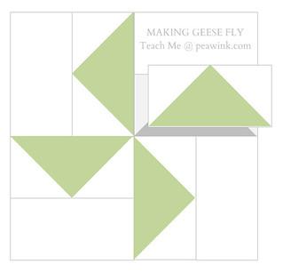 Geese in a pinwheel