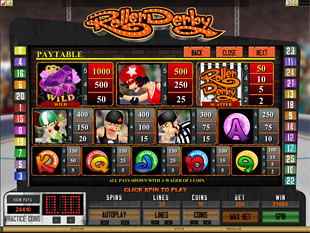 free Roller Derby slot payout