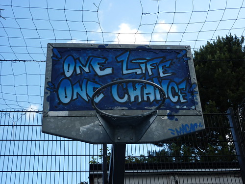 One Life - One Chance basketball net