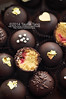Chocolate Coated Fleur d'Orange Cake Ball with Raspberry Filling by TailorTang